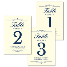 Double Scroll Table Number Cards