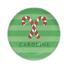 Christmas Candy Canes Melamine Snack Plate