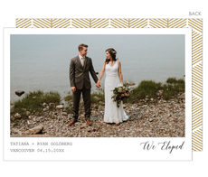 Modern We Eloped Photo Wedding Announcements