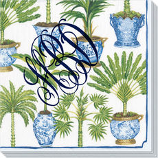 Tropical Potted Palms Caspari Napkins