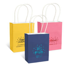 Personalized Confetti Dot Mini Twisted Handled Bags