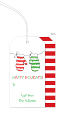 Warm Woolen Mittens Hanging Gift Tags
