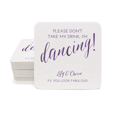 Dancing Square Coasters