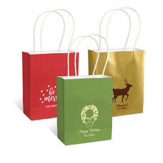 Personalized Mini Twisted Handled Bags for Christmas