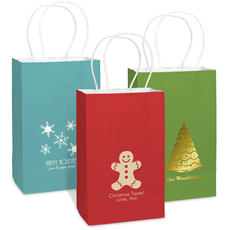 Personalized Medium Twisted Handled Bags for Christmas