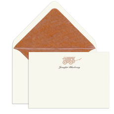 Wagon Engraved Motif Flat Note Cards