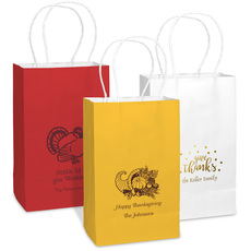 Personalized Medium Twisted Handled Bags for Thanksgiving