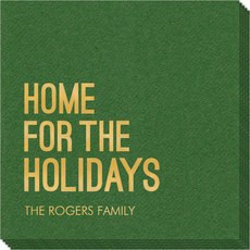 Home For The Holidays Linen Like Napkins