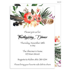 Fall Feathers Invitations