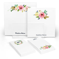 Watercolor Roses Notepad Collection