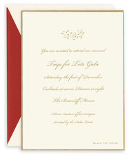 Gold Border Party Invitations