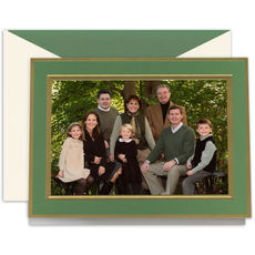 Clover and Gold Folded Photo Holiday Cards