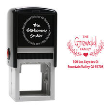 Heart Swag Self Inking Stamper