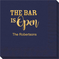 The Bar is Open Napkins