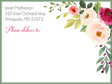 Corner Roses Shipping Labels