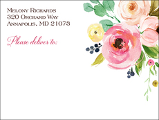 Rose Bunch Shipping Labels