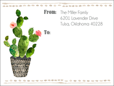 Potted Cactus Shipping Labels