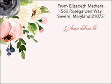 Gray and Pink Roses Shipping Labels