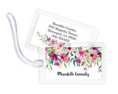 Shades of Pink Luggage Tags