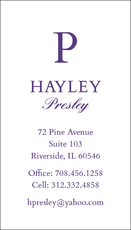 Vertical Large Initial Business Cards
