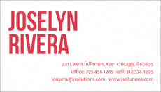 Bold Name Letterpress Business Cards