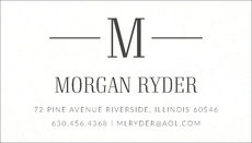 Modern Initial Letterpress Contact Cards