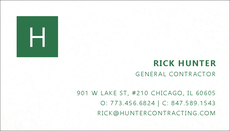 Block Initial Letterpress Business Cards