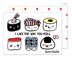 Like the Way You Roll Valentine Exchange Cards