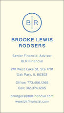 Vertical Circle Initials Business Cards