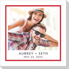 Bold Frame and Text Photo Napkins