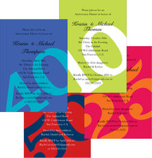 Big Number Anniversary Invitations in Your Color Choice