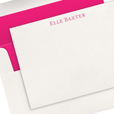 Serif Name Letterpress Flat Note Cards