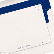 Dots Scatter Letterpress Flat Note Cards