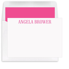 Tall Serif Name Flat Note Cards