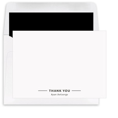 Bold Signature Flat Note Cards