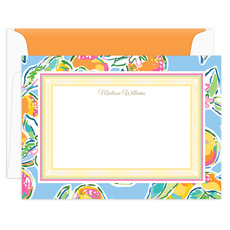 Just Peachy Flat Note Cards