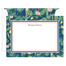 Succulent Buds Flat Note Cards