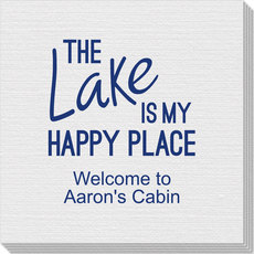 The Lake Is My Happy Place Linen Like Napkins
