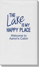 The Lake Is My Happy Place Linen Like Guest Towels