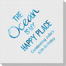 The Ocean Is My Happy Place Linen Like Napkins
