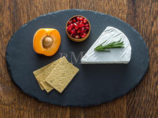 Charcoal 12.5-inch Oval Slate Serving Board