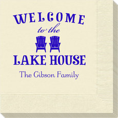 Welcome to the Lake House Napkins
