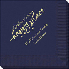 Welcome to Our Happy Place Napkins