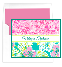 Tropical Hibiscus Folded Note Cards