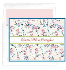 Cherry Blossoms Folded Note Cards