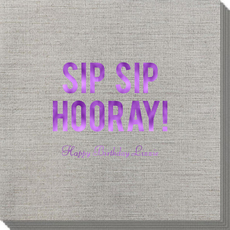 Bold Sip Sip Hooray Bamboo Luxe Napkins