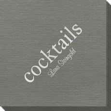 Big Word Cocktails Bamboo Luxe Napkins