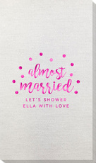 Confetti Dot Almost Married Bamboo Luxe Guest Towels