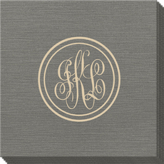 Double Circle Monogram Bamboo Luxe Napkins
