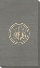 Double Circle Monogram Bamboo Luxe Guest Towels